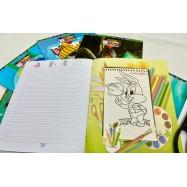 4 Lines Note Book - လေးကြောင်းမျဉ်း (အထူ စာရွက်ချော) -80pages